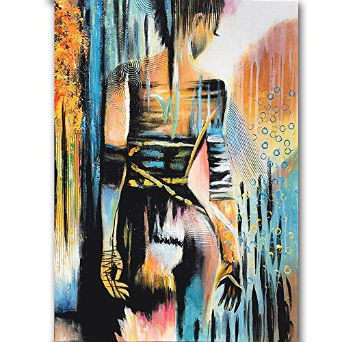 Hand painted Modern Abstract Sexy Girl Oil Painting On Canvas Nude Sex Artist Oil Painting For Wall Decoration by Orlco Art