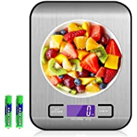 Food Scale, Multifunction Digital Kitchen Scale High Accuracy Electronic Food Weight with Large LCD Display, Stainless…