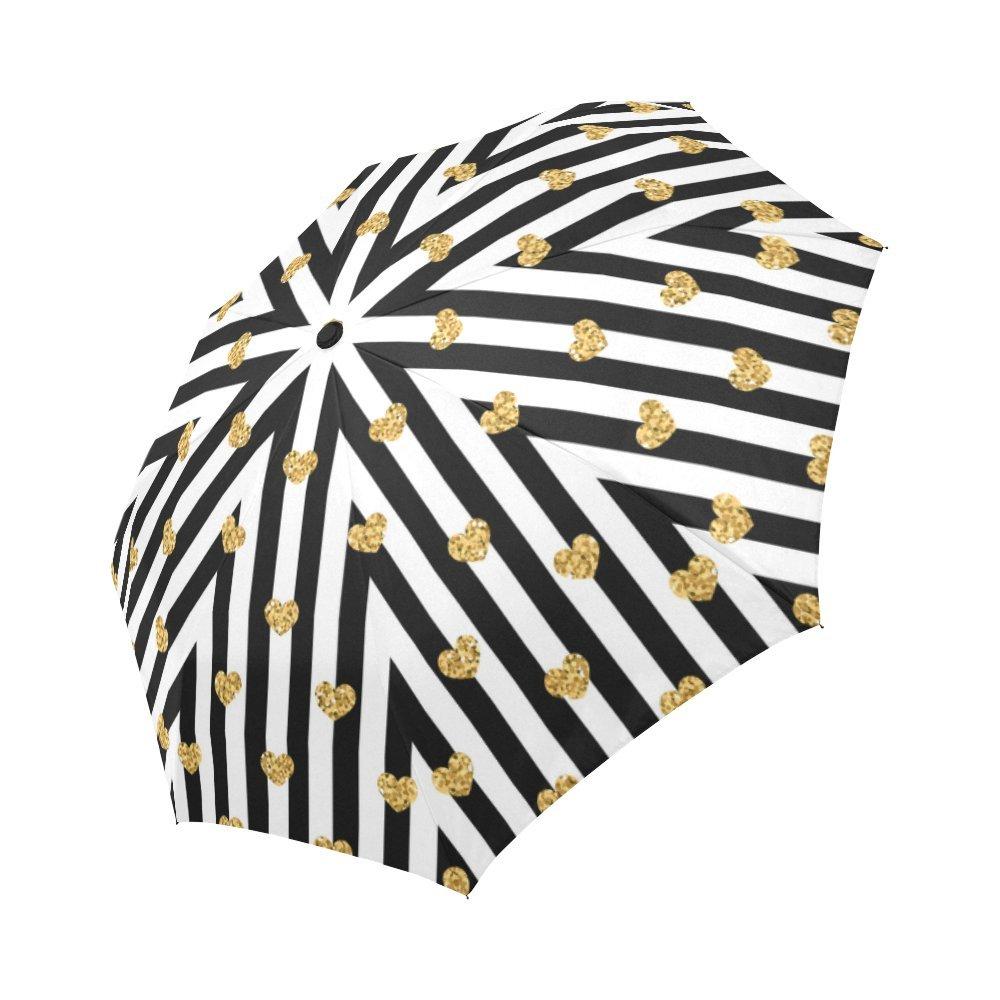 942848952d InterestPrint Grey Stripes Lines with Gold Glitter Heart 100 ...