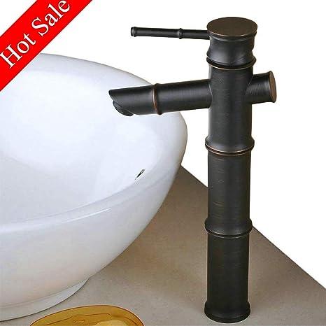 Antik Messing Waschtischarmatur Hoch Bad Wasserhahn Mischbatterie Waschbecken
