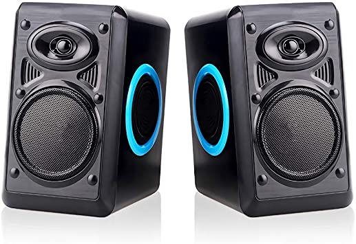 Computer Speakers Multimedia With Volume Control Powered By USB 2.0 Stereo Home