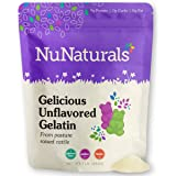 NuNaturals Premium Unflavored Gelatin Powder, 1 Pound, Unflavored