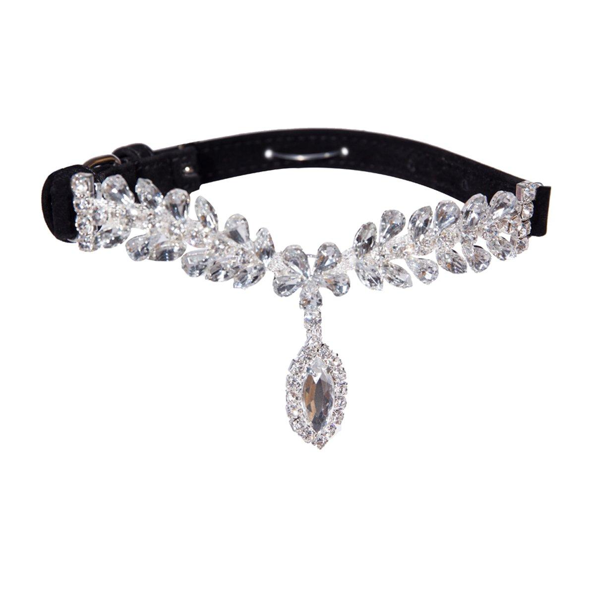 EXPAWLORER Black Fashion Jeweled Diamante Dog Cat Puppy Collars Necklace Style by EXPAWLORER (Image #1)