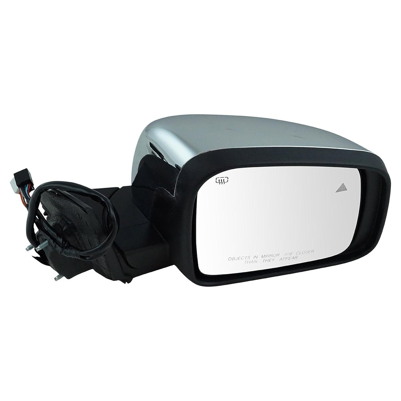 Mirror Power Heated Signal Memory Blind Spot Chrome Driver Left LH for Durango