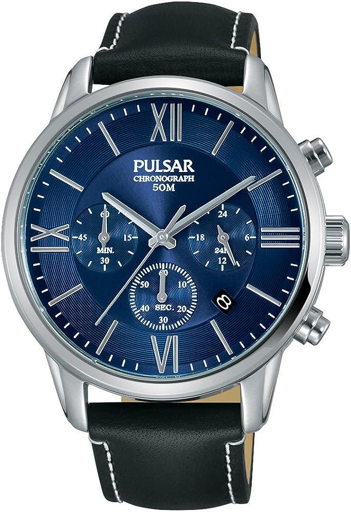 Pulsar Reloj Cronógrafo para Hombre de Cuarzo con Correa en Cuero PT3809X1
