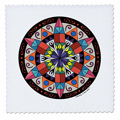 3dRose qs_23186_3 Hex Sign 1 Pennsylvania Dutch Luck Protection Symbol Quilt Square, 8 by 8-Inch