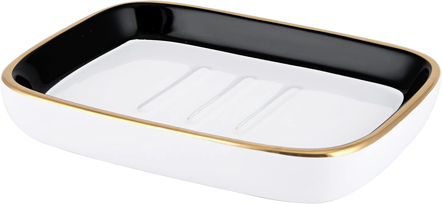 Allure Home Creations Derby, Soap Dish, Black