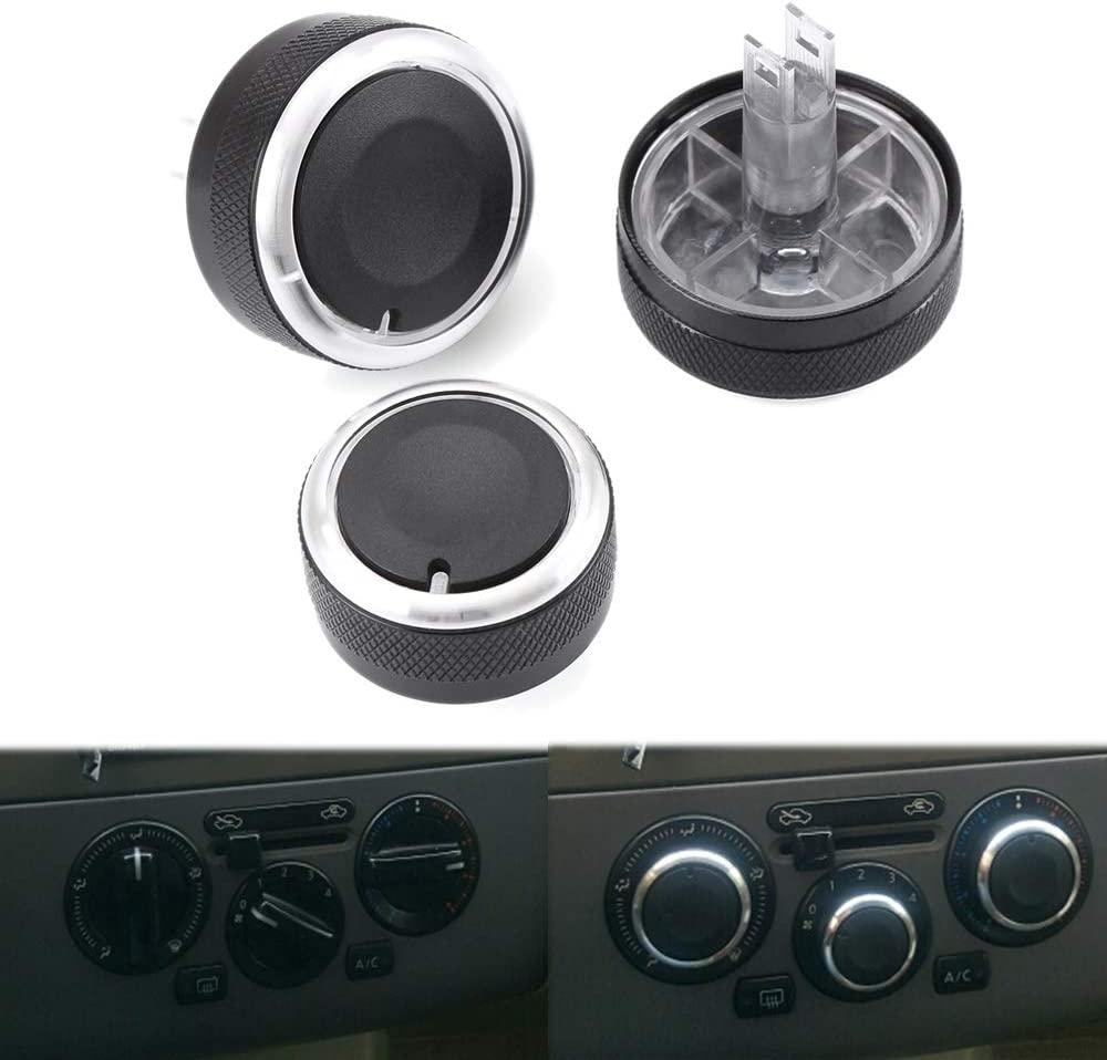 Eastar 3 PCS Aluminum Alloy Air-Conditioning A//C Knobs Switch Fit for Nissan LIVINA TIIDA GENISS NV200