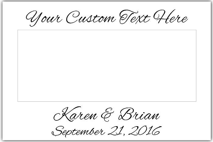 Amazon.com: Selfie Frame Polaroid Style Wedding Cutout Photo Booth ...