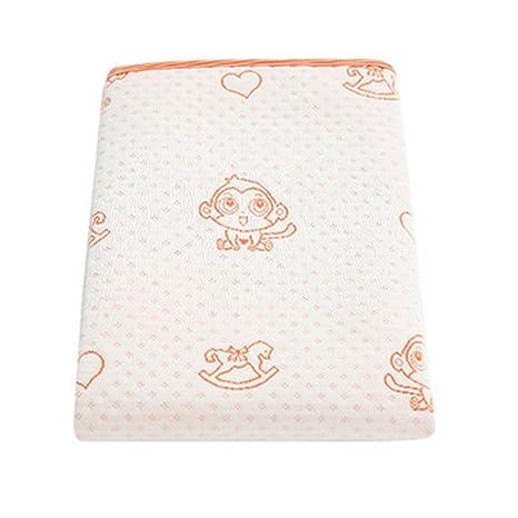 Almohadilla para cambiar pañales impermeable para bebés de verano Estera para dormir,Naranja 70x50cm