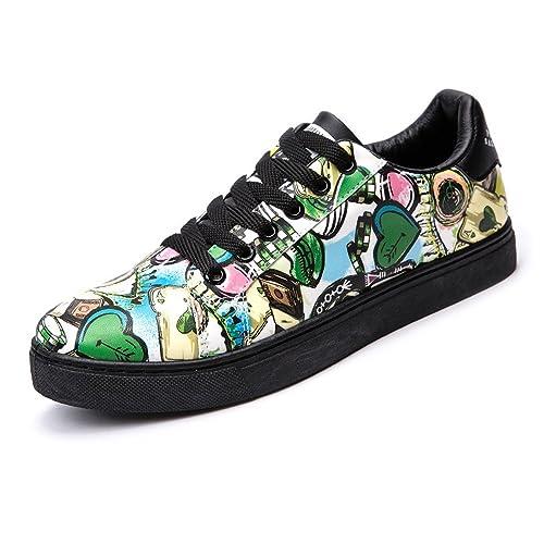 Zapatos Deportivos Planas para Hombres Encajes Casuales Mocasines de Cuero PU Suela de Goma Superior Baja,Zapatos de Cricket: Amazon.es: Zapatos y ...