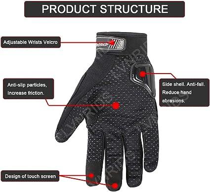 LVNRIDS Paire de gants de protection pour moto Unisexe