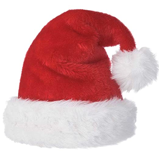 39462a50d985e Christmas Santa Hats for Adults with Big White Ball Red Xmas Santa Hat Y025