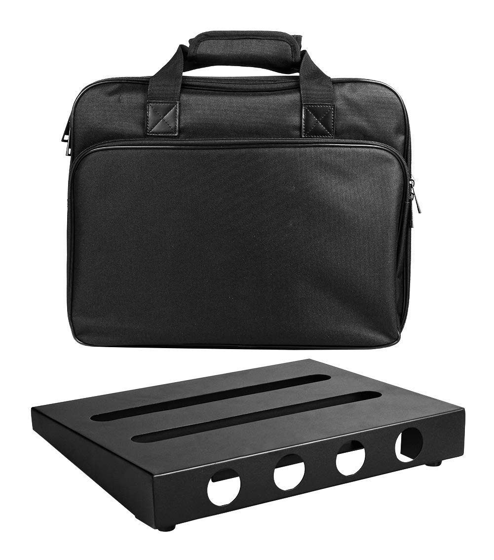 GOKKO Guitar Pedal Board Case 13.8 x 11 Inch Pedalboard with Carrying Bag (Medium) by GOKKO
