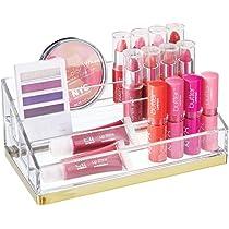 mDesign Práctico organizador de maquillaje – Caja para cosméticos ...