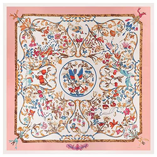 10c404bca3044 Placehap Luxury Brand Silk Scarf Women Sky Lucky Birds Nest Print ...