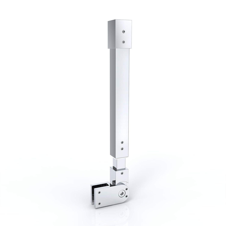 Haltestange Stabilisator f/ür Duschw/ände Decke Duschw/ände Dusche Duschabtrennung Edelstahl Eckig Verstellung 500-850 mm Glasst/ärken 6-10 mm GS32