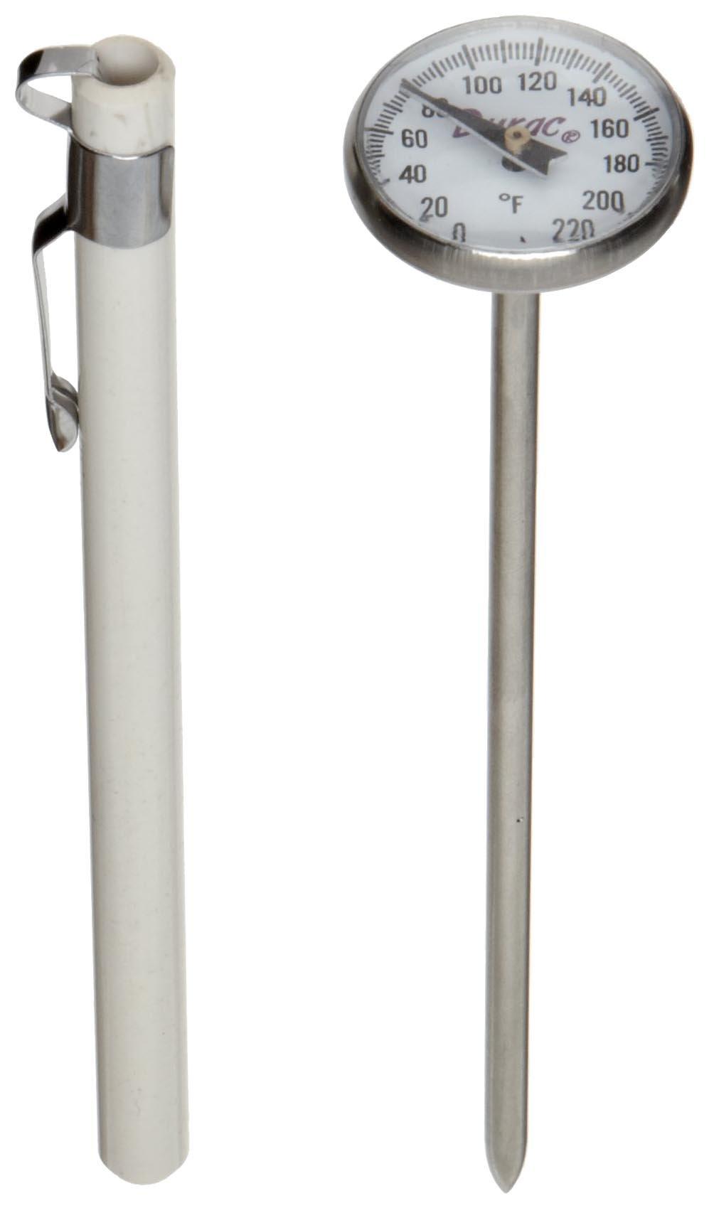 H-B DURAC Bi-Metallic Thermometer; 0 to 220F, 25mm Dial (B61310-3000)
