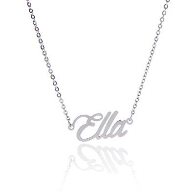 lovely estella word necklace gold bartlett necklaces