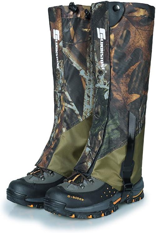 OAREA Snow Gaiters Leggings CoverShort Camo Waterproof Leg Gaiters for Hiking Walking Hunting Trekking