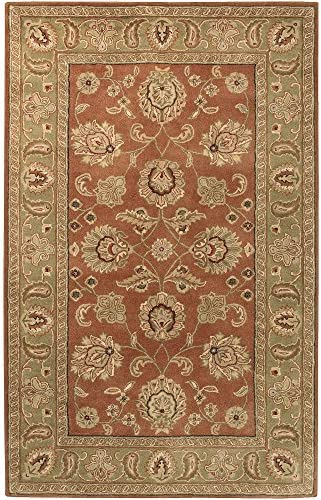Surya Crowne Hand Tufted 100 Wool Cinnamon Spice 10' x 14' Area Rug