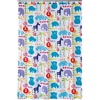 Allure Home Creations Hippo Poly Duck Printed Shower CurtainAmazon com  Kids Shower Curtain Sea WITH Hooks   Somethings Fishy  . Teal And Yellow Shower Curtain. Home Design Ideas