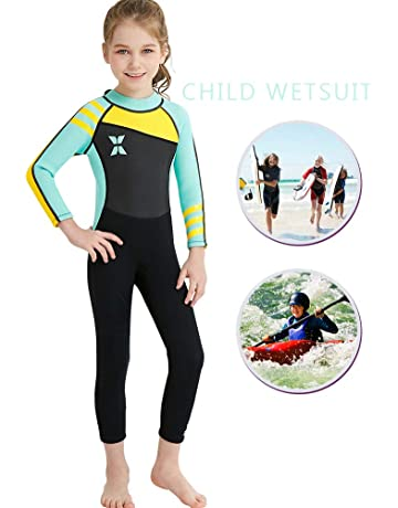 5ae6e4d976 IREENUO Kids Wetsuit Neoprene 2.5mm Thick Long Sleeve One Piece UV  Protection Sun Protection Sunsuit