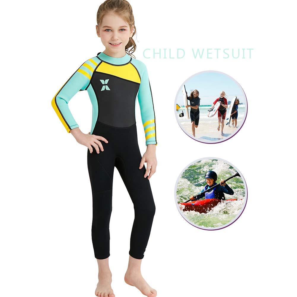 IREENUO Kids Wetsuit Neoprene 2.5MM One Piece Full Body Long Sleeve Swimsuit by IREENUO