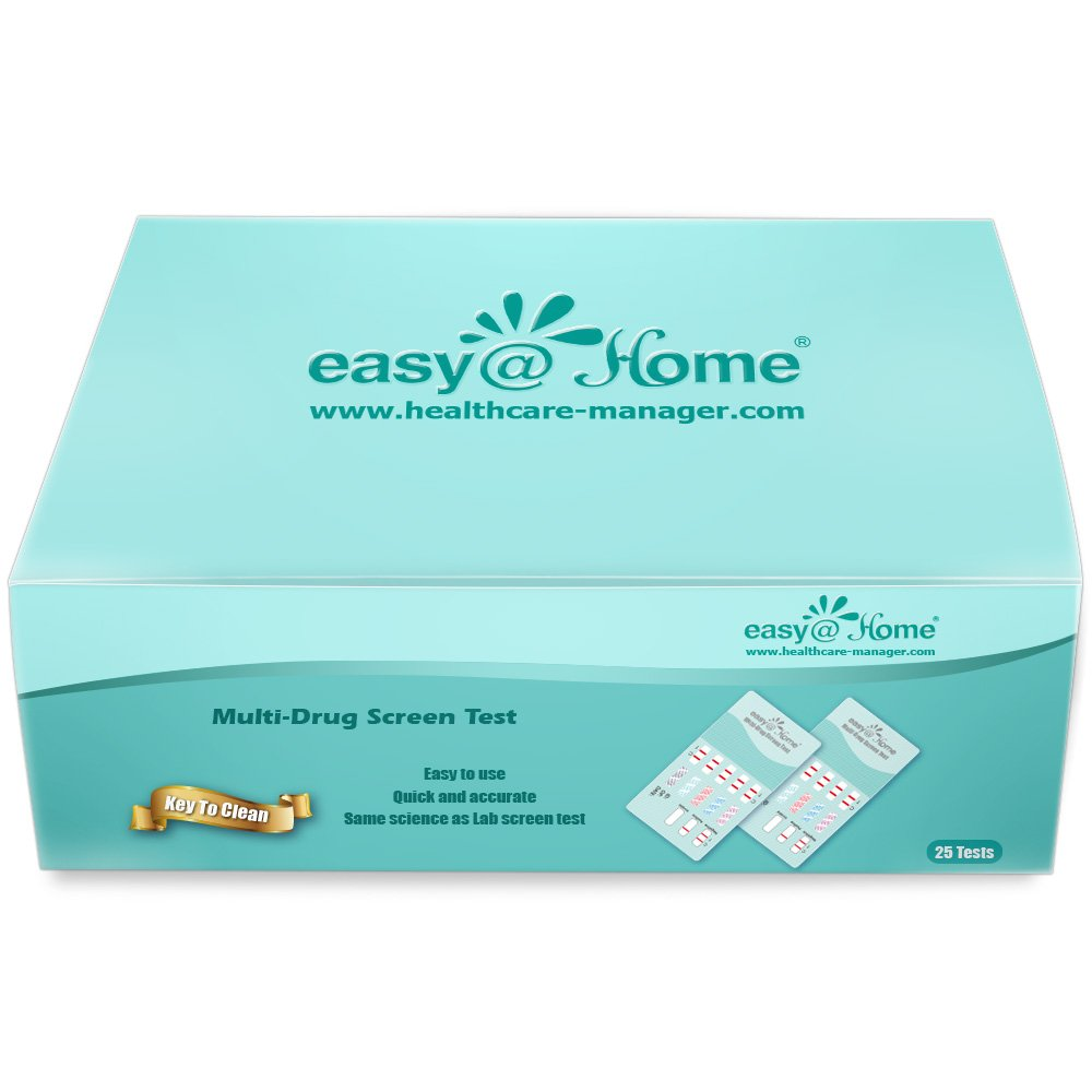 50 Pack Easy@Home 5 Panel Instant Drug Test Kits - Testing Marijuana (THC), COC, OPI 2000, AMP, BZO - Urine Dip Drug Testing - #EDOAP-754