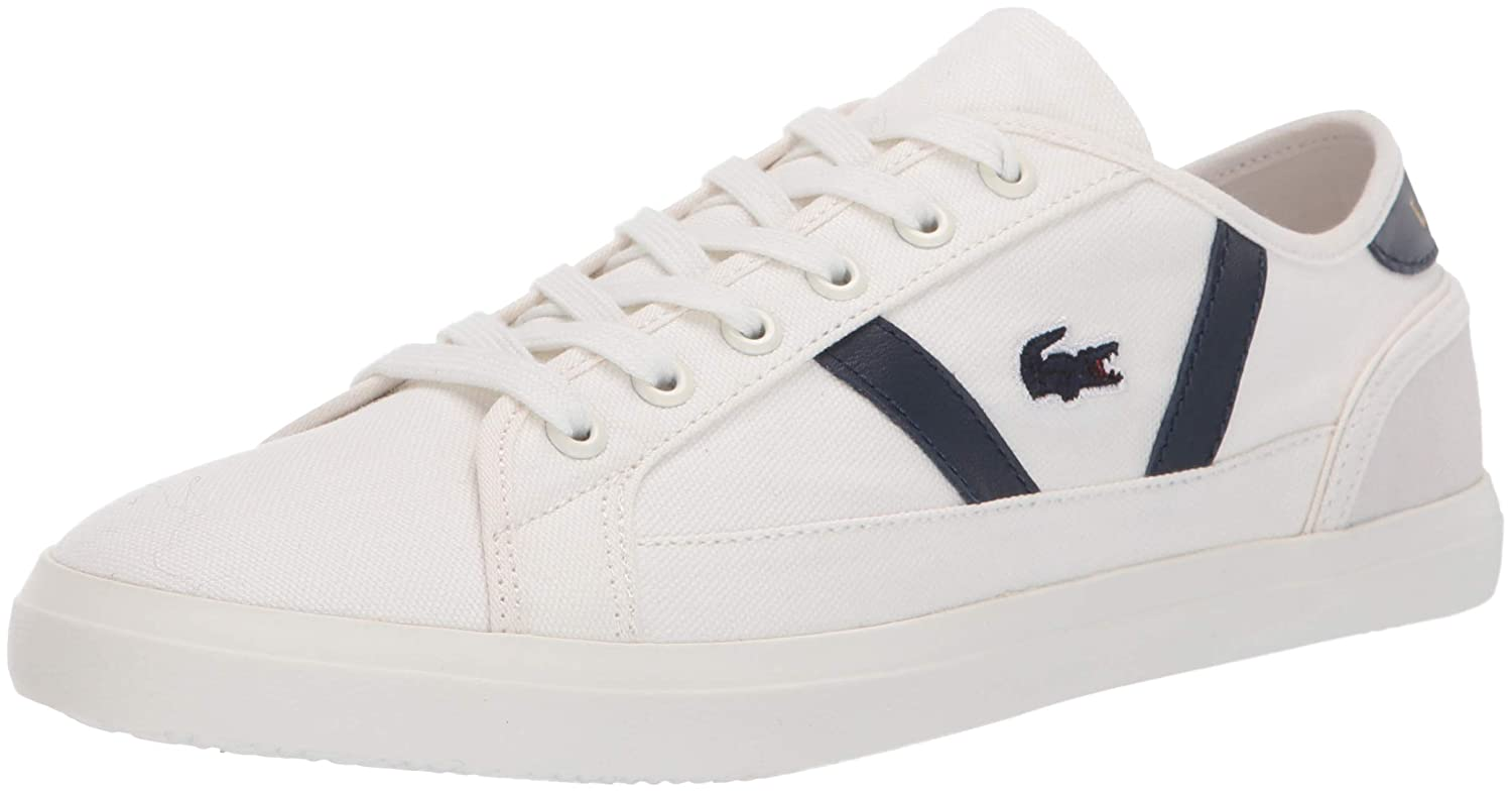 Off White Navy Lacoste Womens Sideline Sneaker