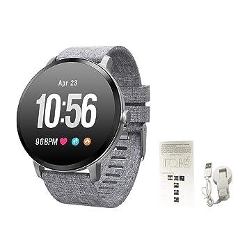 Montre connectée, Bluetooth Smartwatch Montre Sport, Cardiofréquencemètre/Podomètre/Sommeil/Appel SMS