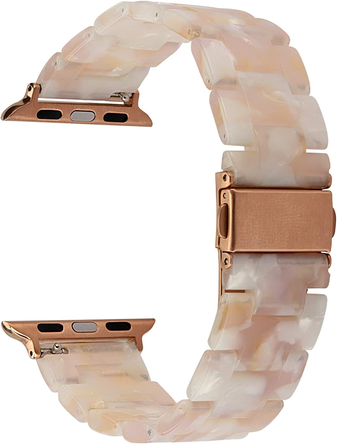MAIRUI Compatible with Apple Watch Band Series 4/5 Slim Resin Bracelet Wristband Lightweight Strap Replacement for iWatch Series 5/4/3/2/1, Sport/Edition