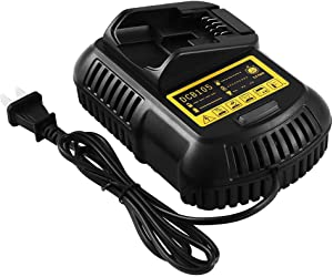 Eagglew 12V-20V MAX Li-Ion Battery Fast Charger DCB105 for All Dewalt Lithium Ion Battery DCB101 DCB107 DCB112 DCB105 DCB112 DCB115 DCB201 DCB203 DCB204 DCB205 Compact Drill Driver Battery Packs