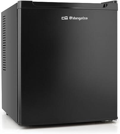 Mini frigorífico Orbegozo en color negro, 38 litros de capacidad y puerta reversible que permitirá e