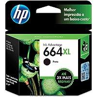 HP F6V31AB, Cartucho de Tinta 664XL, Preto
