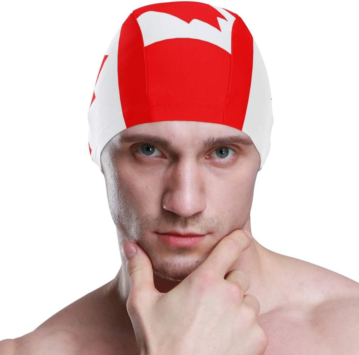 para Adultos j/óvenes y ni/ños ALINLO Gorro de nataci/ón con la Bandera de Canad/á y Gorro de nataci/ón Impermeable Hombres