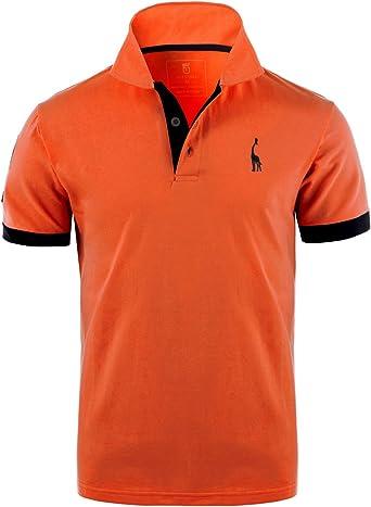 Glestore Polo para Hombre de Manga Corta Collar Camisa Golf MT1030 ...