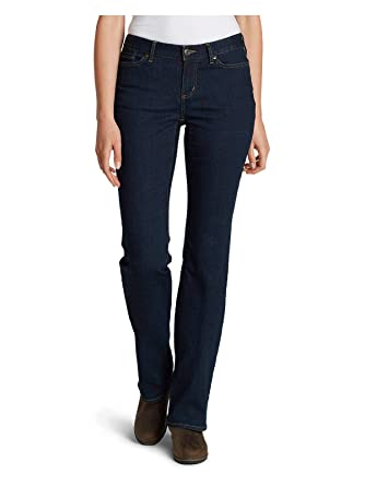 2cfa6df277e63 Eddie Bauer Women s StayShape Boot Cut Jeans - Curvy at Amazon ...