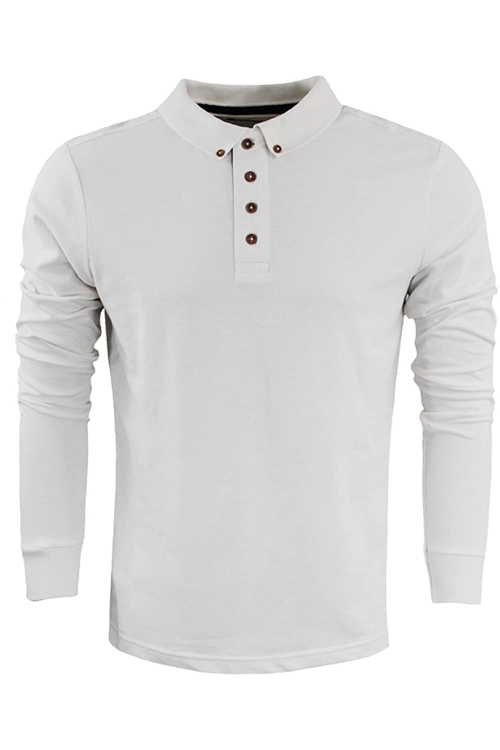 Brave Soul Men's Lincoln' Long Sleeve Cotton Collared Top New Size S-XXL