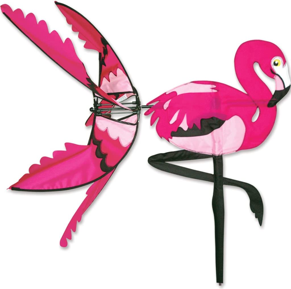 Premier Kites 34 in. Pink Flamingo Spinner