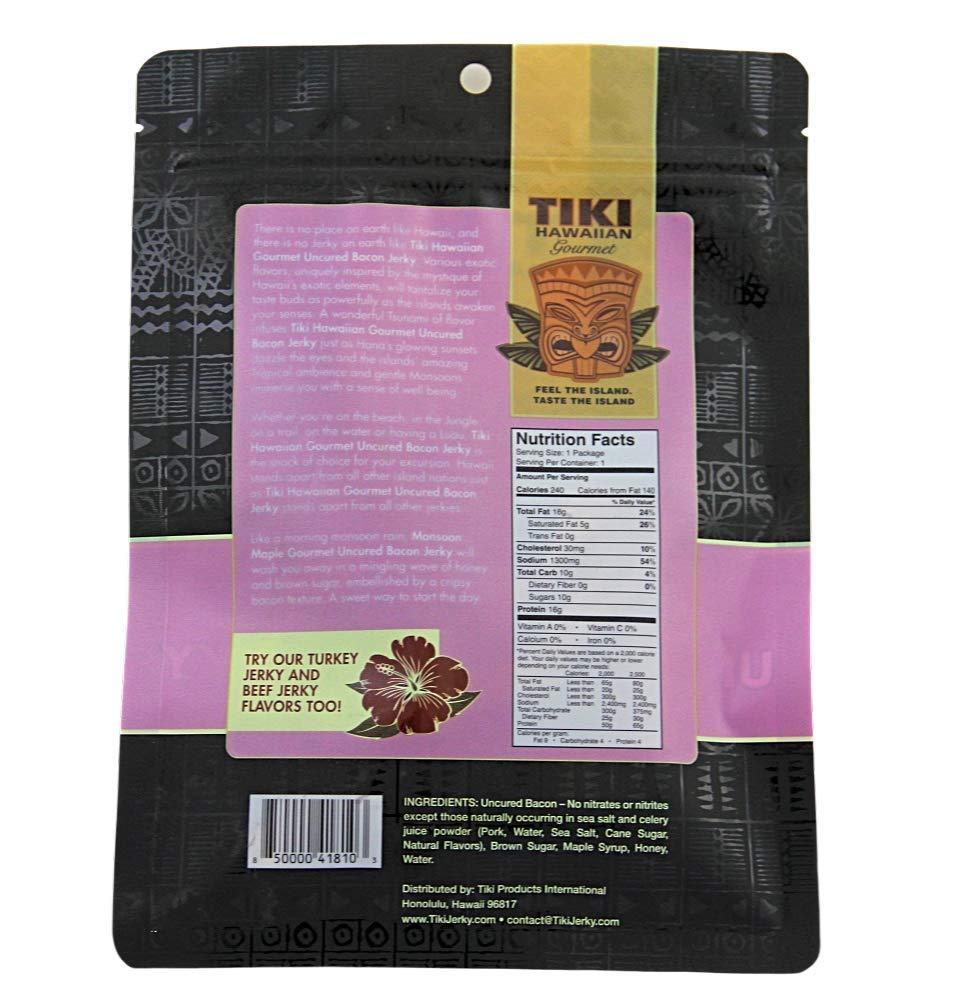 Tiki Hawaiian Gourmet Jerky Bacon: Amazon.com: Grocery ...