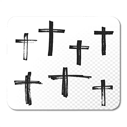 Amazon Boszina Mouse Pads Crucifix Cross Paint Brush