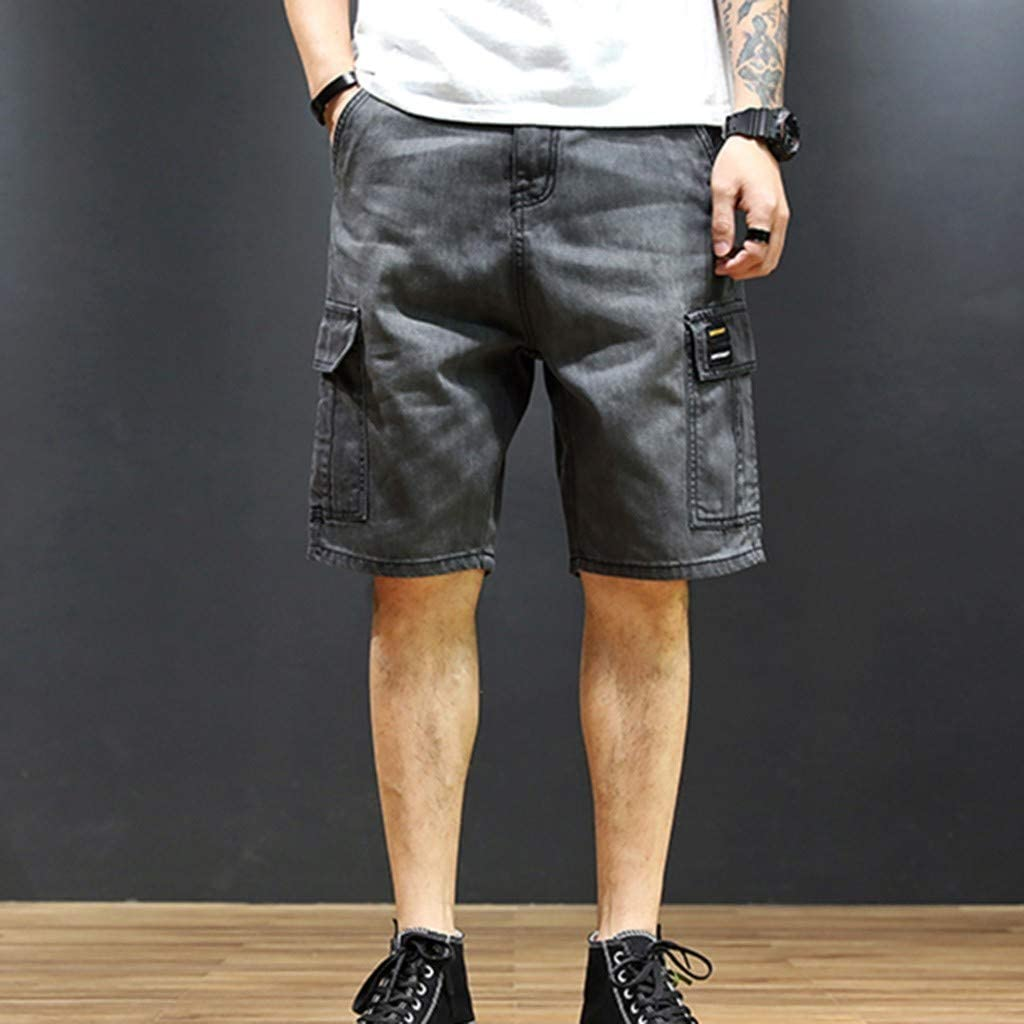Mens Camo Shorts Big and Tall Expandable Waist Active Sports Running Loose Fit Pants with Pocket Transer