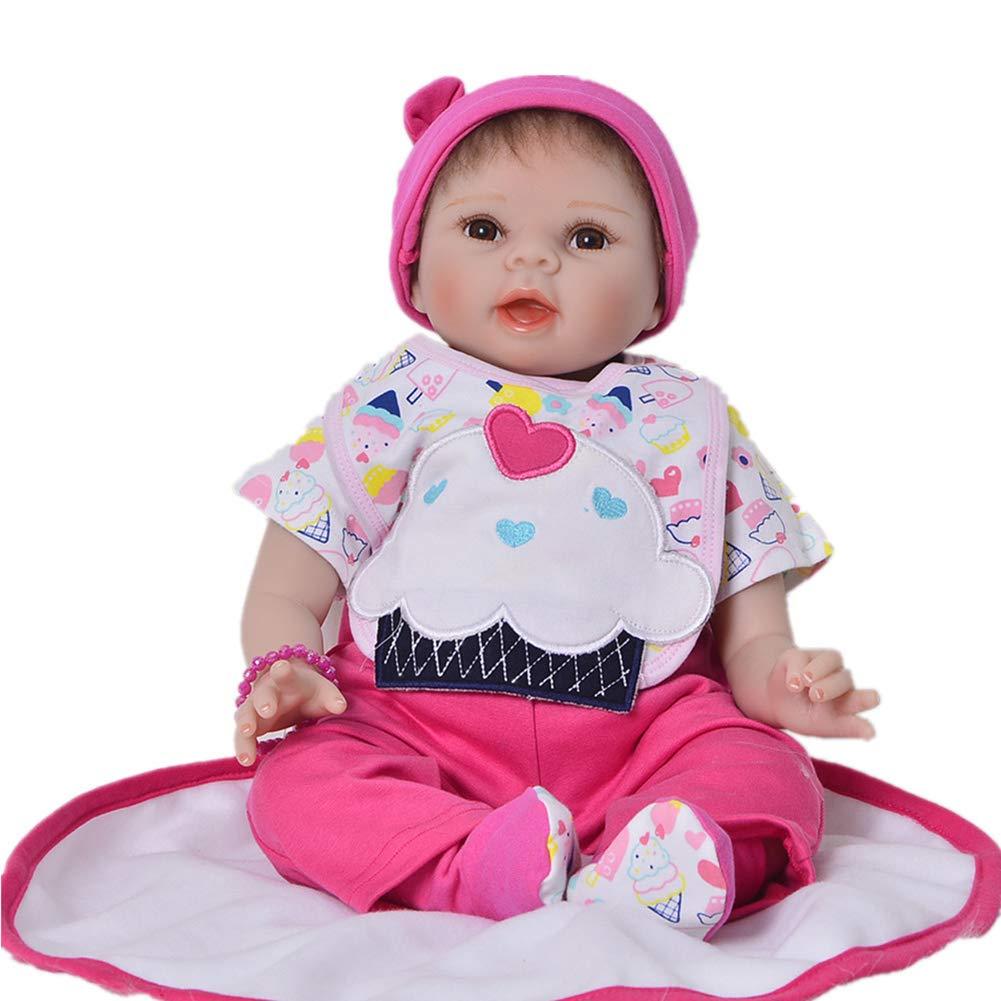 Entrega rápida y envío gratis en todos los pedidos. E 55cm Realista Renacido Renacido Renacido Muñecas de bebé Cuerpo de Tela Realista Baby Dolls Niño Juguete Cumpleaños Navidad Regalo  bienvenido a orden