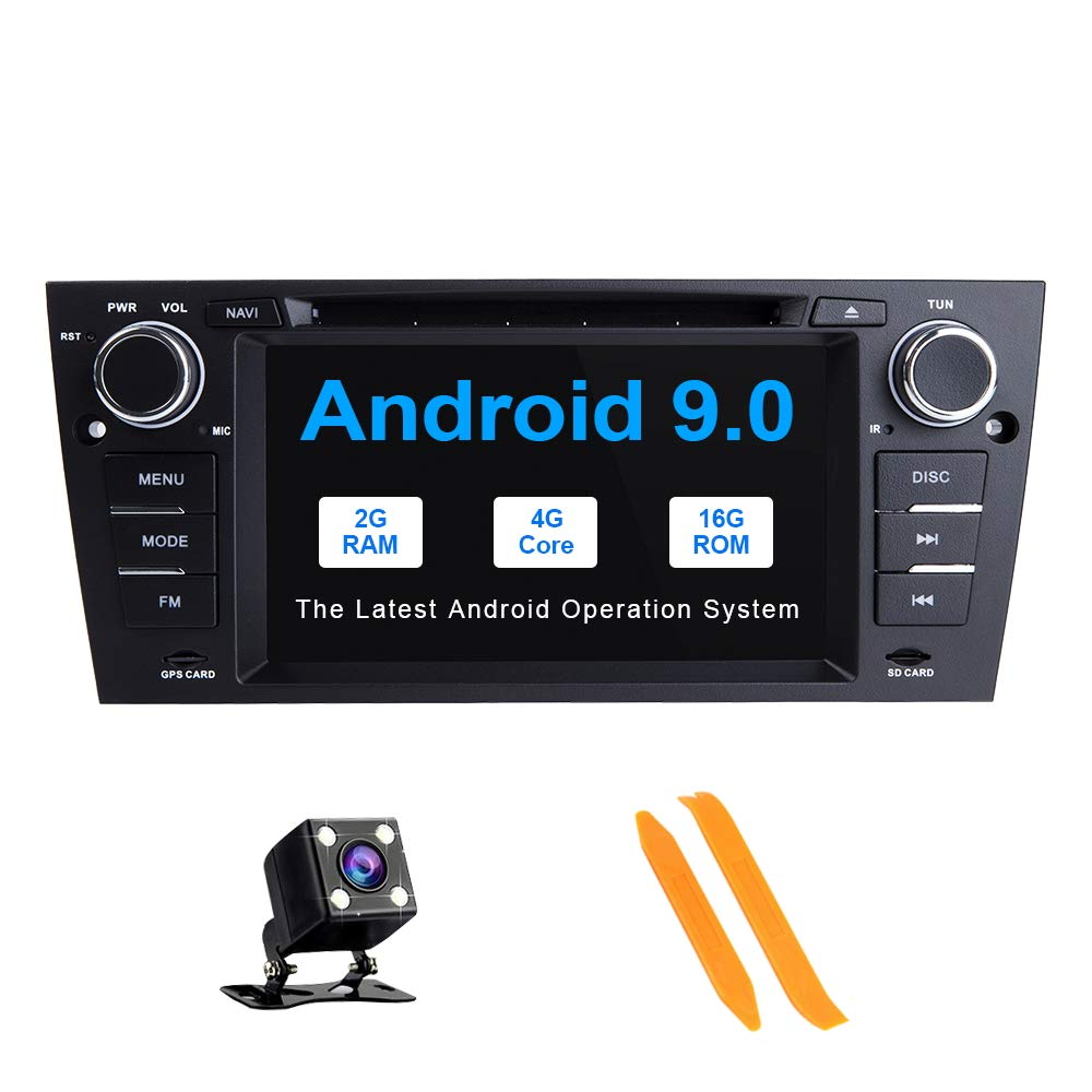 TOOPAI 7 Inch Android 9.0 Car Radio for BMW E90 E91 E92 E93 Car Stereo GPS Navigation Car GPS Media Player Support Screen Mirror 4G WiFi OBD2 Steering Wheel Control Car DVD Player by TOOPAI
