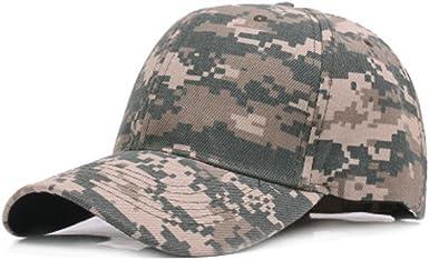 Weimay Camuflaje Gorra de béisbol cadete ejército Gorras Lavado ...