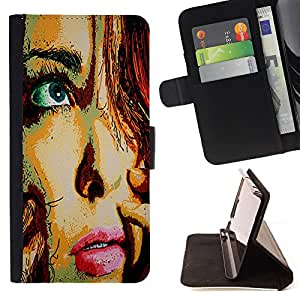- Freaky Funny Pattern kidding - - Premium PU Leather Wallet Case with Card Slots, Cash Compartment and Detachable Wrist Strap FOR Samsung Galaxy Note 4 SM-N910 N910 IV King case