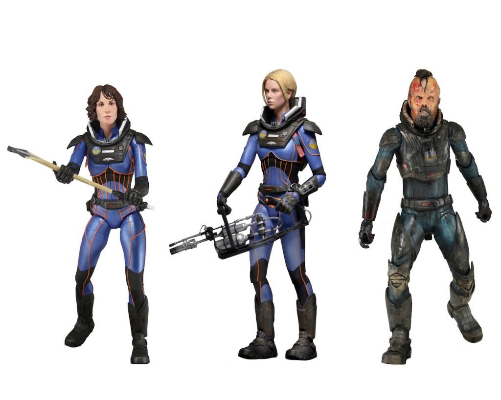 NECA Prometheus Series 4 Vickers, Shaw, and Fifield 7 Inch Figure Set of 3