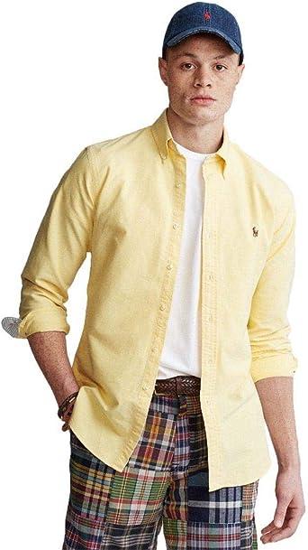 Ralph Lauren Camisa Amarilla para Hombre: Amazon.es: Ropa y accesorios