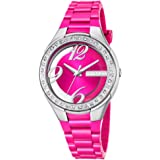 Calypso Damen-Armbanduhr Fashion analog PU-Armband pink Quarz-Uhr Ziffernblatt pink UK5679/3